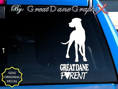 Great Dane PARENT(S) #1 - Vinyl Decal Sticker / Color Choice - HIGH QUALITY