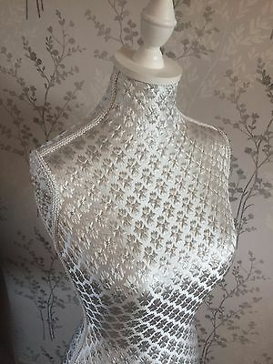 Silver Sparkle White Tailors Bespoke Mannequin Dress Dummy Next Day Mothers Day