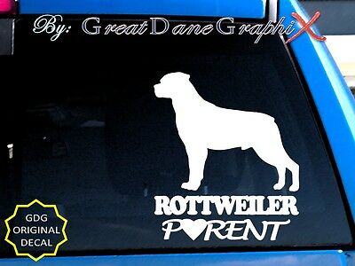 Rottweiler PARENT(S) - Vinyl Decal Sticker / Color Choice - HIGH QUALITY