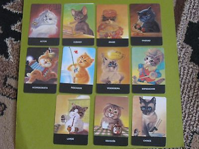 lot of 11 cat Portuguese pocket calendars 1987 (free ship $20 min US only)