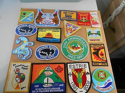 (Rk8-R) An Assortment Seventeen Scouting Anniversary Badges Canada Scout Badges