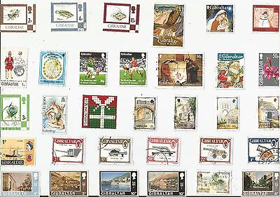 A Selection Of 32 Good/fine Used Stamps From Gibraltar