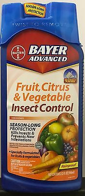 BAYER ADVANCED Fruit, Citrus & Vegetable Insect Control Concentrate - 32-ounces