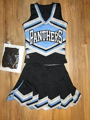 Stunning PANTHERS Girls REAL Cheerleader Uniform Outfit Costume+ Bloomers Child