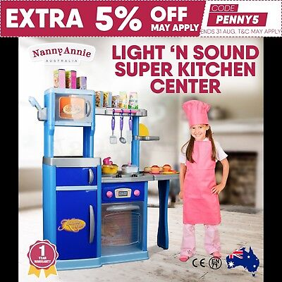 Kids Kitchen Pretend Play Set Toy Children Cooking Home Cookware Oven Boy Girl