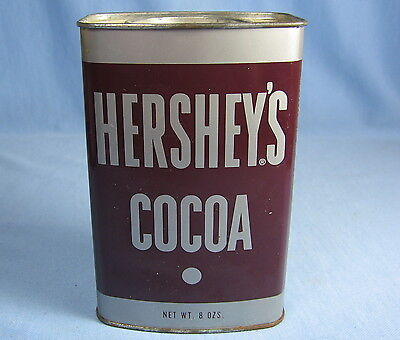 Vintage HERSHEY'S COCOA 8oz TIN Container ~ Great Advertising Country Kitchen De