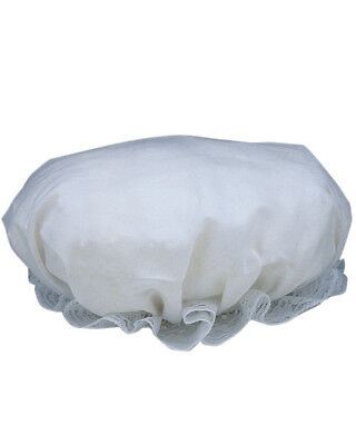 Adult's White Colonial Mop Hat Costume Accessory