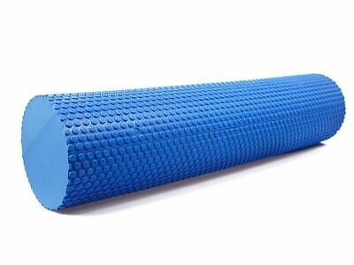 EVA FOAM ROLLER 90x15CM PHYSIO YOGA PILATES BACK ITB GYM EXERCISES BLUE