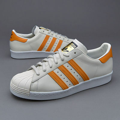 pas cher pour réduction ea321 ac2d1 ADIDAS ORIGINAL SUPERSTAR 80s S75842 MEN'S SHOES Beige Orange Sneakers 8  8.5 9