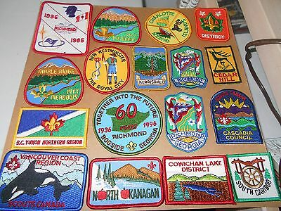 (Rl3-R) Seventeen British Columbia Scout Badges    Canadian Scout Badges