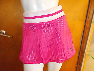 Puma Fully Lined Elasticated Waist Sports Skirt UK 8 Pink Mix BNWT