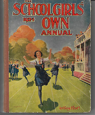 Antique book The Schoolgirls Own Annual 1924 illustrated good condition