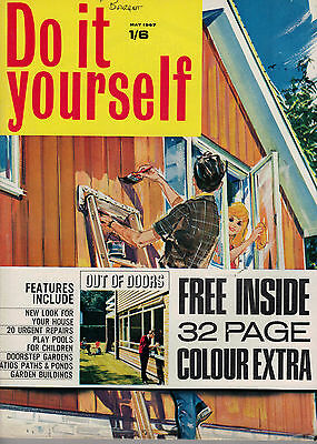 1967 MAY 37829 Do it yourself Magazine OUT OF DOORS 32 PAGE COLOUR EXTRA