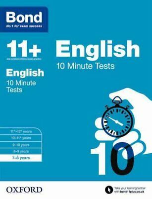 Bond 11+: English: 10 Minute Tests 7-8 Years by Sarah Lindsay 9780192740519