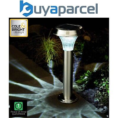 Gardman Stainless Steel Post Solar Light Ultra Bright Cole & Bright 10 Lumen
