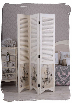 spanische wand lamellen paravent shabby chic raumteiler. Black Bedroom Furniture Sets. Home Design Ideas