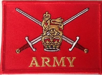 British Army Crest Iron or sew on patch