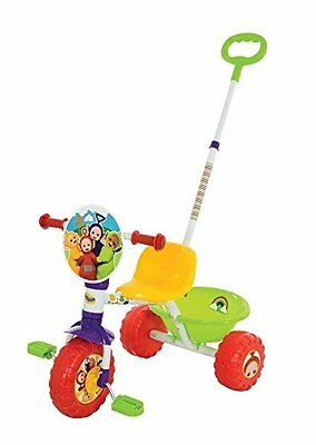 New Teletubbies My First Pedal Trike Tricycle Parent Handle Rear Bucket Age 2+
