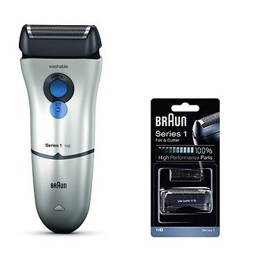 Braun 150-1 Electric Rechargeable Mens Shaver + 11B Cutter Foil Cassette *New*
