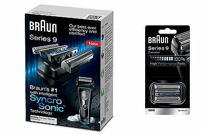 Braun 9040 Mens Electric Shaver - Wet & Dry + 90B Foil Cutter Cassette *New*