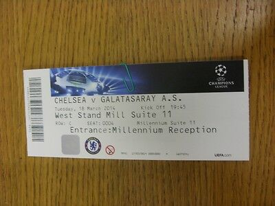 18/03/2014 Ticket: Chelsea v Galatasaray [Champions League] . Thanks for viewing