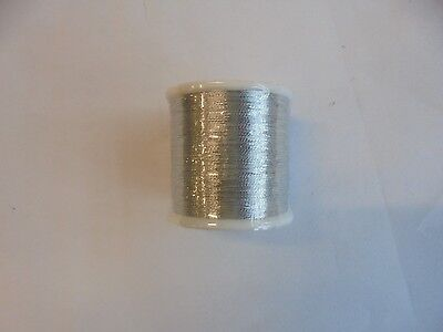 metallic fishing rod whipping thread silver grade A.X100YDS.