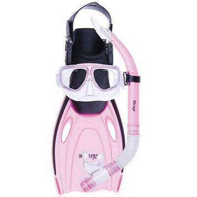 Mirage Nomad Adult Silicone Mask Snorkel & Fin Set - Size L/XL