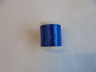 metallic fishing rod whipping thread blue grade A.