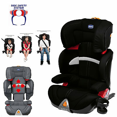 Chicco Black Oasys Group 2/3 Fixplus Isofix Carseat Reclining Childs Booster