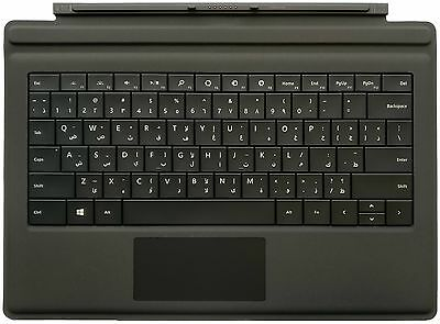 Microsoft Type Cover 3 Black Arabic QWERTY Keyboard for Surface Pro 3