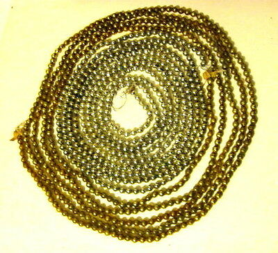 Vintage Large Mica Beads Christmas Garland 17 ft. Silver & Gold.  2 strings