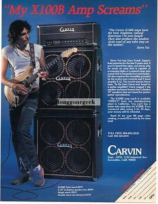 1983 Carvin Amp & Speakers Steve Vai Magazine Ad