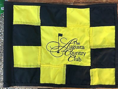 RARE Checker Board Masters/Augusta Country Club Embroidered Golf Pin Flag