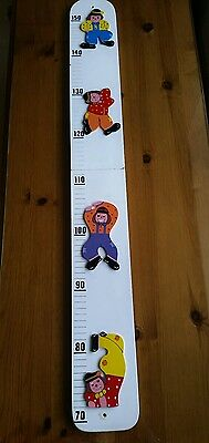 Height size Measuring Wall Chart Wooden with clowns