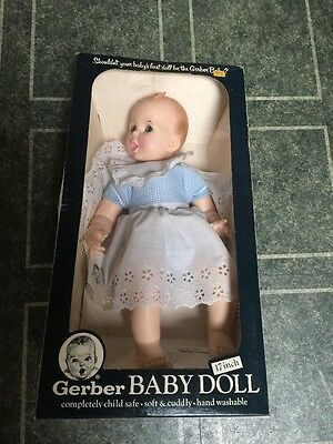 """1979 Gerber Baby Doll 17"""" Boxed"""