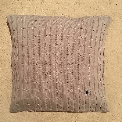Ralph Lauren Home Cable Knit Cushion Cover - Grey Size 45x45cm RRP £109.00
