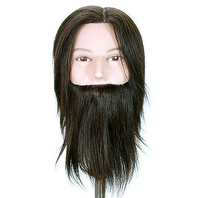 Celebrity Cosmetology Budget Bearded Mannequin Head Dylan 100% Human Hair #659