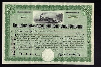 The United New Jersey Rail Road Canal Company dd 1935 iss to Julia Grant