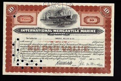 International Mercantile Marine 1940 (Titanic Owners ) iss to Carlisle, Mellick