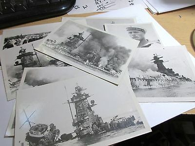 Vtg Lot of 8 WW2 Sinking of The Admiral Graf Spee.Unused Photographic Postcards