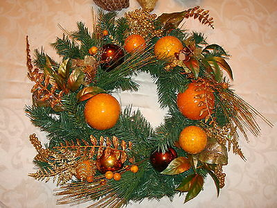 Large Autumn, Thanksgiving & Christmas Table Or Door Wreath New In Box Jc Penney