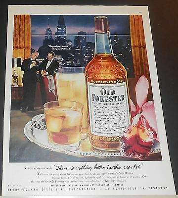 1951 Old Forester Whisky to honor guest whose friendshiip u cherish Sarra Ad
