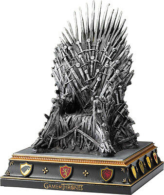"""GAME OF THRONES - Iron Throne 7.5"""" Hand Painted Bookend (Noble Collection) #NEW"""