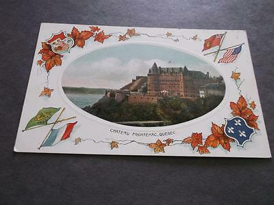 OLD QUEBEC CHATEAU FRONTENAC POSTCARD 1930's 1940's   AS