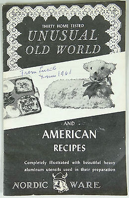 Vtg 1960 NORDIC WARE Product Catalog Cookbook Advertisement Lamb Cake Recipe