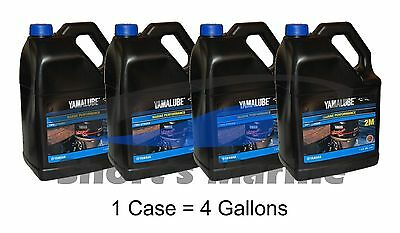 Yamaha Yamalube Outboard Marine Performance 2-Stroke TCW-3 Oil Case of 4 Gallons