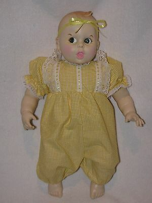 """17"""" Googly Eyed Gerber Baby Doll Dressed In Yellow Outfit"""