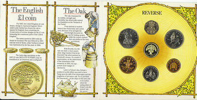 1987 United Kingdom Brilliant Uncirculated Coin Collection Set Royal Mint