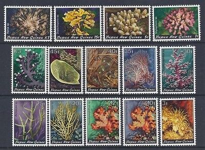 Mint 1982-83 Papua New Guinea Png Corals Complete Set Of 14 Muh