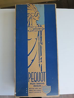 Vintage Pequot Sheets Deco Style Box Streamline Design 1930s Native American